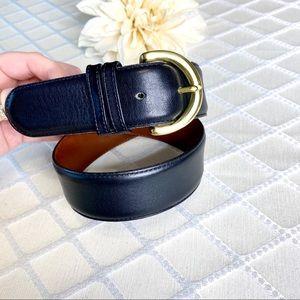 Coach Accessories - Coach Black Leather Cowhide Belt Brass Buckle